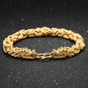 Lucky Golden Dragon Bracelet