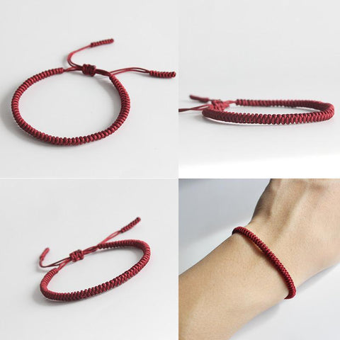 Image of Handmade Knots Lucky Rope Bracelet