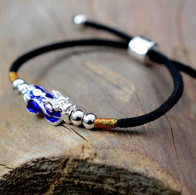 Handcrafted Color-Changing Feng Shui Lucky Pixiu Bracelet
