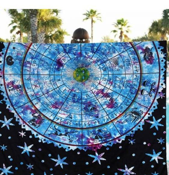Horoscope Tapestry - Mint & Dream
