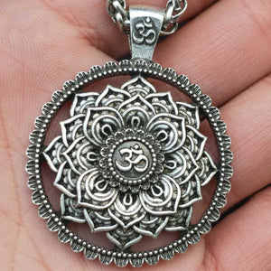 Mandala Spirituality Lotus Pendant Necklace