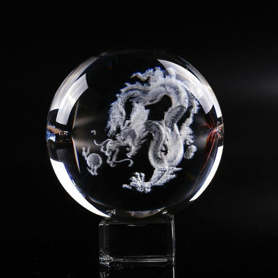 Prosperity Dragon Crystal Sphere - Home Decor - Inner Wisdom Store