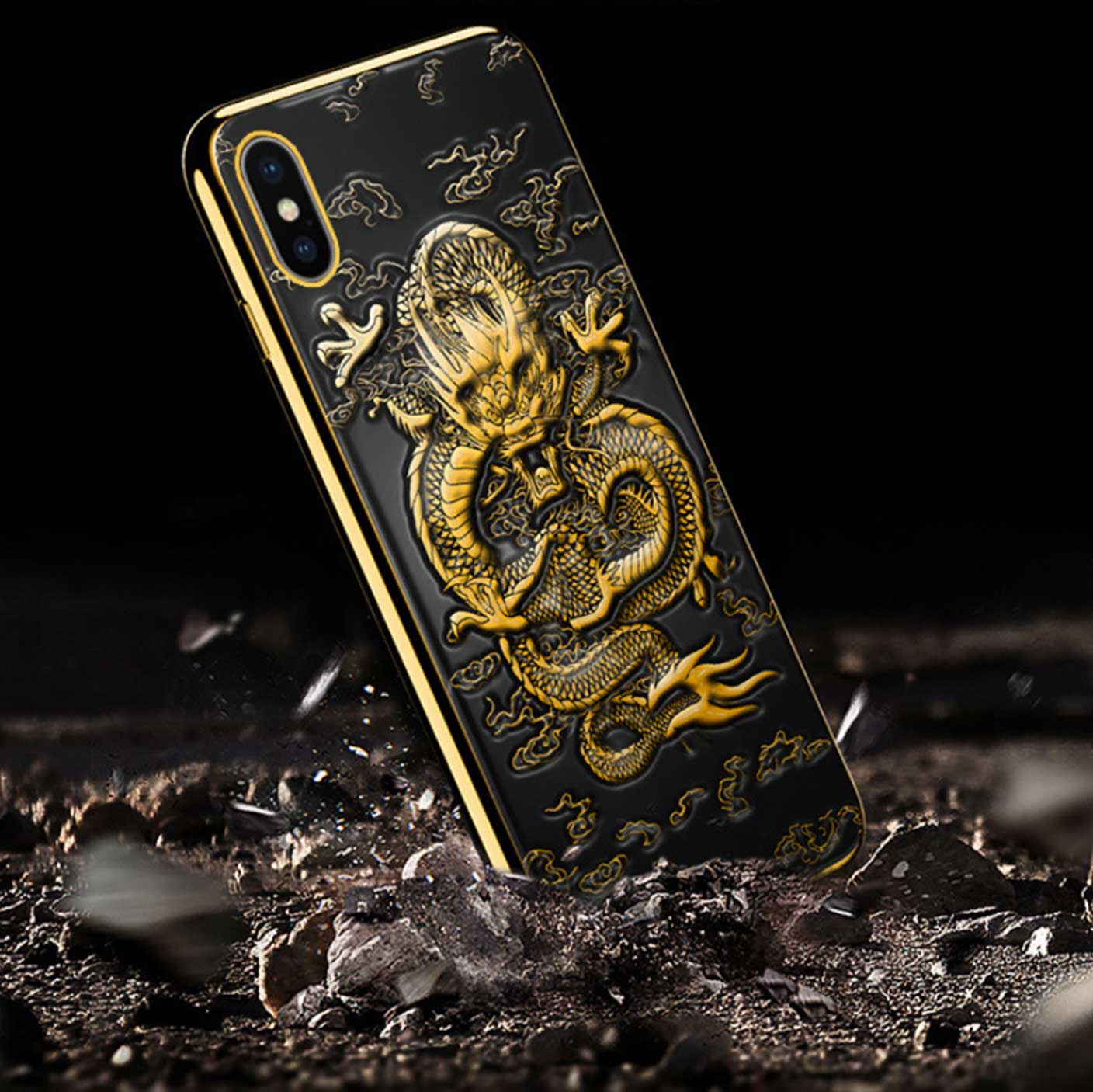 IPhone Dragon Embossed Phone Case - Phone Case - Inner Wisdom Store