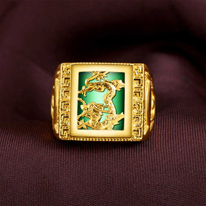 Agate Abundance and Protection Dragon Ring