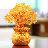 Citrine Money Tree Gemstone Ornament - Feng Shui for Prosperity - Home Decor - Inner Wisdom Store