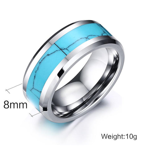 Inlay Tungsten Carbide Ring - Measurements