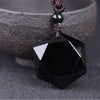 Six-Pointed Star Black Obsidian Protection Necklace - Necklace - Inner Wisdom Store