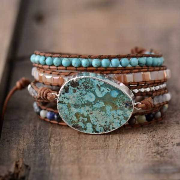 Blue Earth Jasper Bracelet