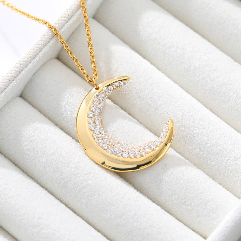 Crescent Moon Crystal Necklace - Necklace - Inner Wisdom Store