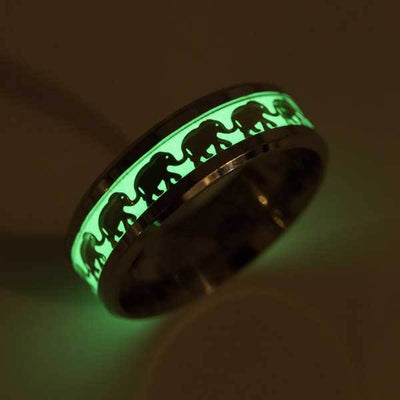 Glowing In The Dark Elephant Ring - Ring - Inner Wisdom Store