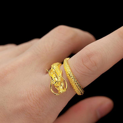 Gold Dragon Ring