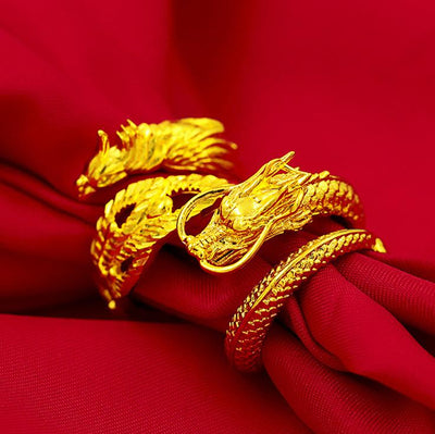 Couple Fortune Dragon & Phoenix Ring - Ring - Inner Wisdom Store