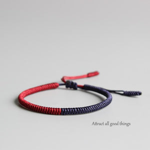 Handmade Knots Lucky Rope Bracelet ( Peace )