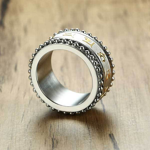 Mani Mantra Rotating Ring