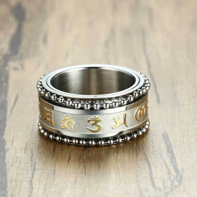 Mani Mantra Rotating Ring - Ring - Inner Wisdom Store