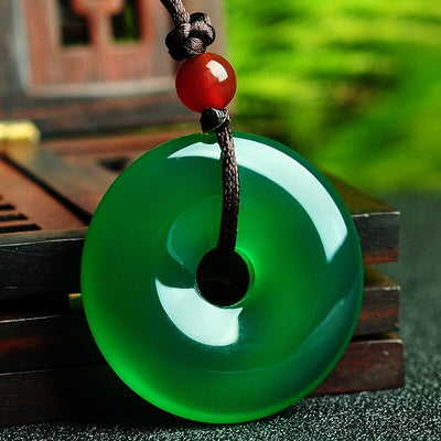 Natural Green Jade Harmony Necklace - Necklace - Inner Wisdom Store