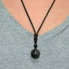 Rainbow Eye Obsidian Sphere Pendant Necklace - Necklace - Inner Wisdom Store
