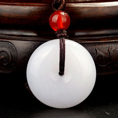 Natural White Jade Purity Necklace - Necklace - Inner Wisdom Store