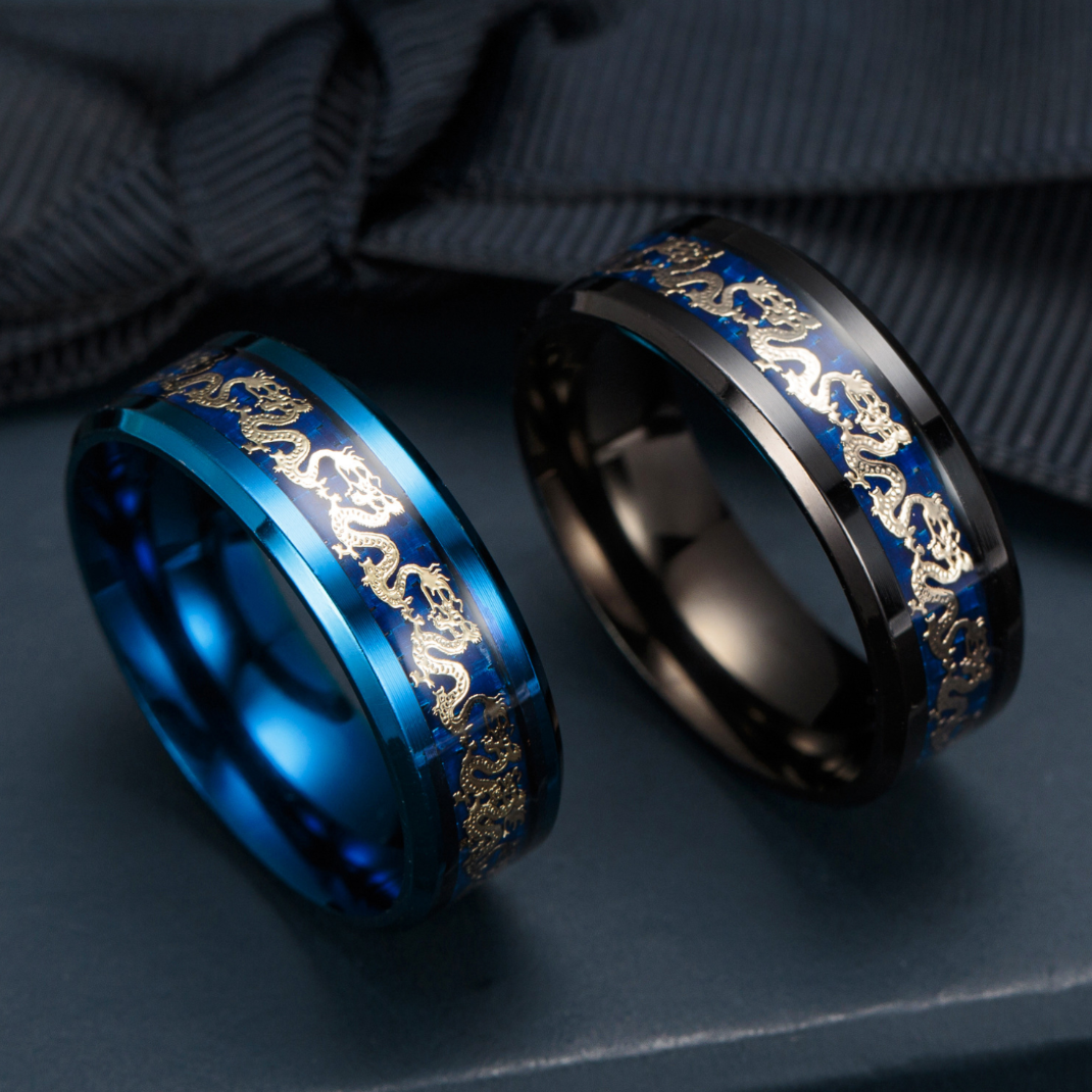 Luxurious Lucky Fortune Dragon Ring - Ring - Inner Wisdom Store