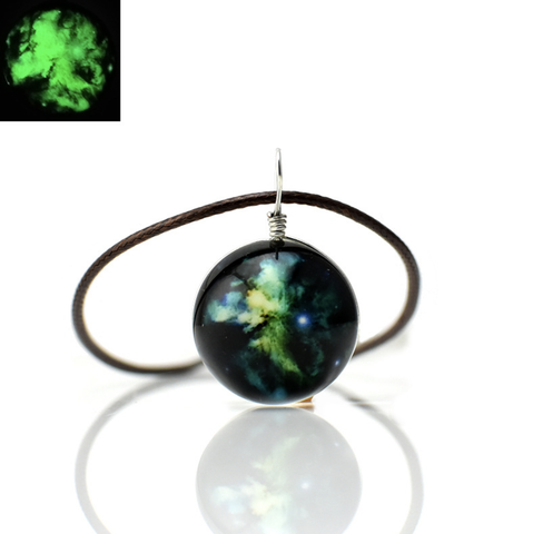 Glowing In The Dark Planets Necklace - Mint & Dream