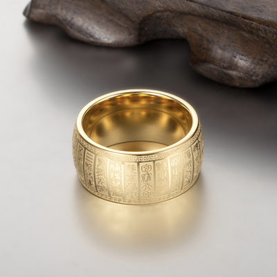 The Taoist The Great Golden Brightness Mantra Ring