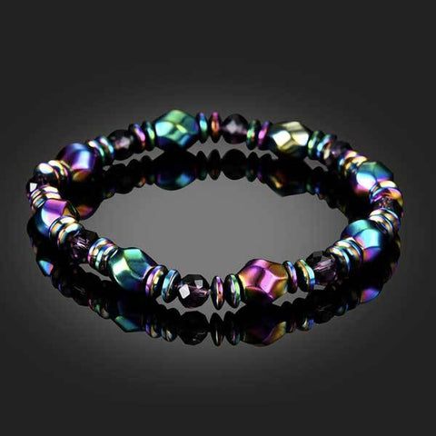 Image of Rainbow Magnetic Hematite Bracelet
