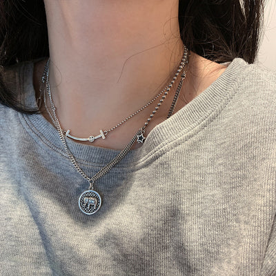 Silver Star Elephant Necklace - Necklace - Inner Wisdom Store