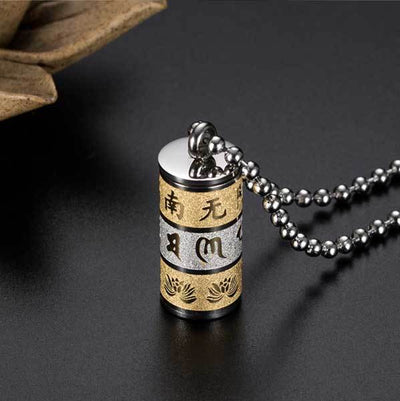 Tibetan Mani Mantra Pendant Necklace - Necklace - Inner Wisdom Store