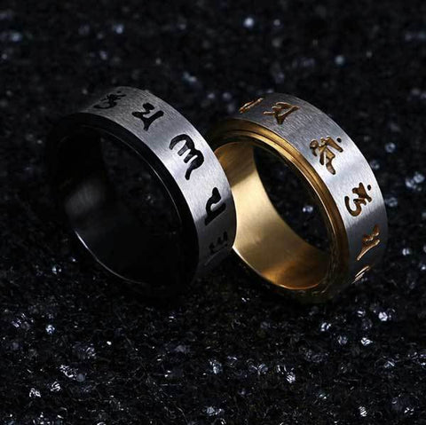 Image of Tibetan Rotating Mani Mantra Ring