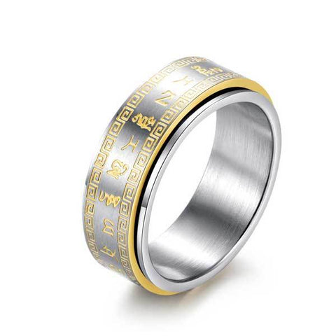 Image of Tibetan Rotating Mantra Ring