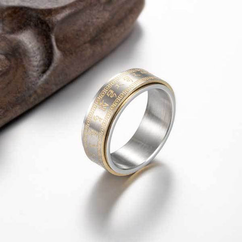 Tibetan Rotating Mantra Ring