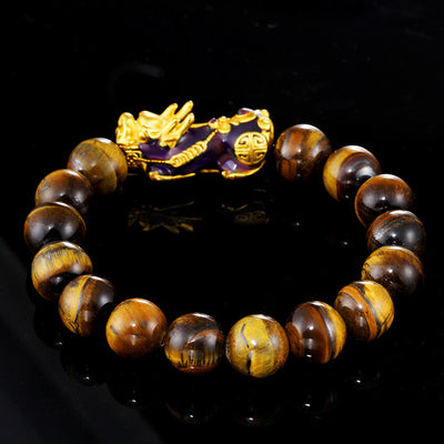 Tiger's Eye Pixiu Prosperity Bracelet