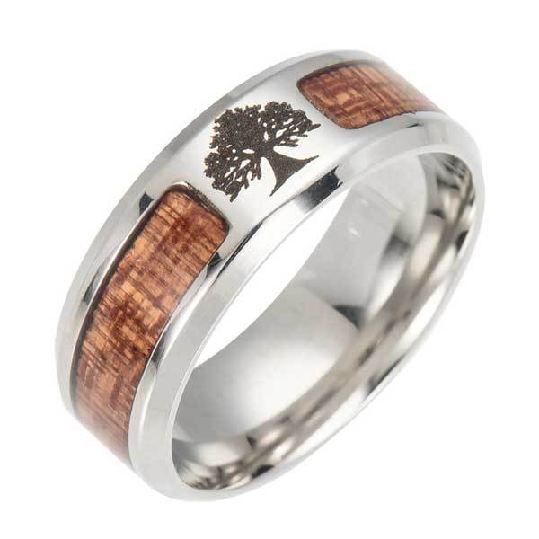 Tree of Life Wood Ring - Ring - Inner Wisdom Store