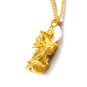 Pixiu Golden Wealth Necklace