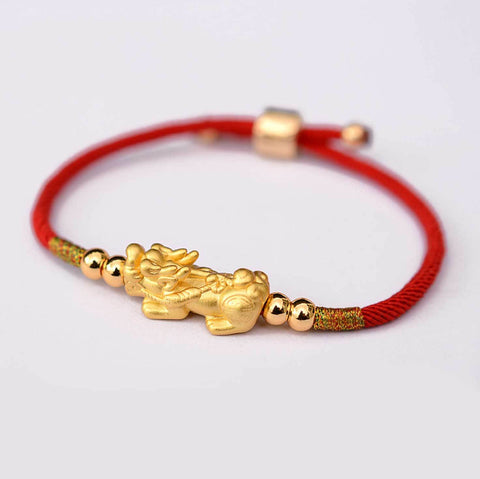 Feng Shui Lucky Pixiu Red String Bracelets