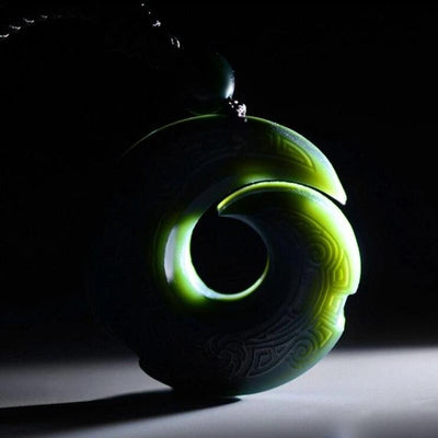 Hetian Jade Lucky Pendant Necklace
