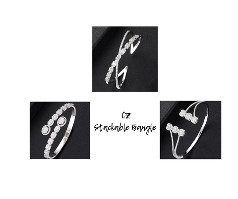"<img src=""nikouture fall collection bangles.jpg"" alt=""cubic zirconia stackable bangles"">"