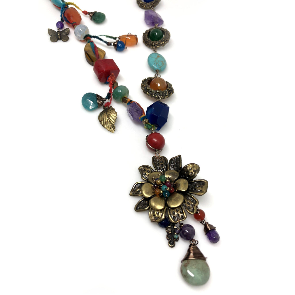 Mexico | Multi-Color Puebla Stone Necklace