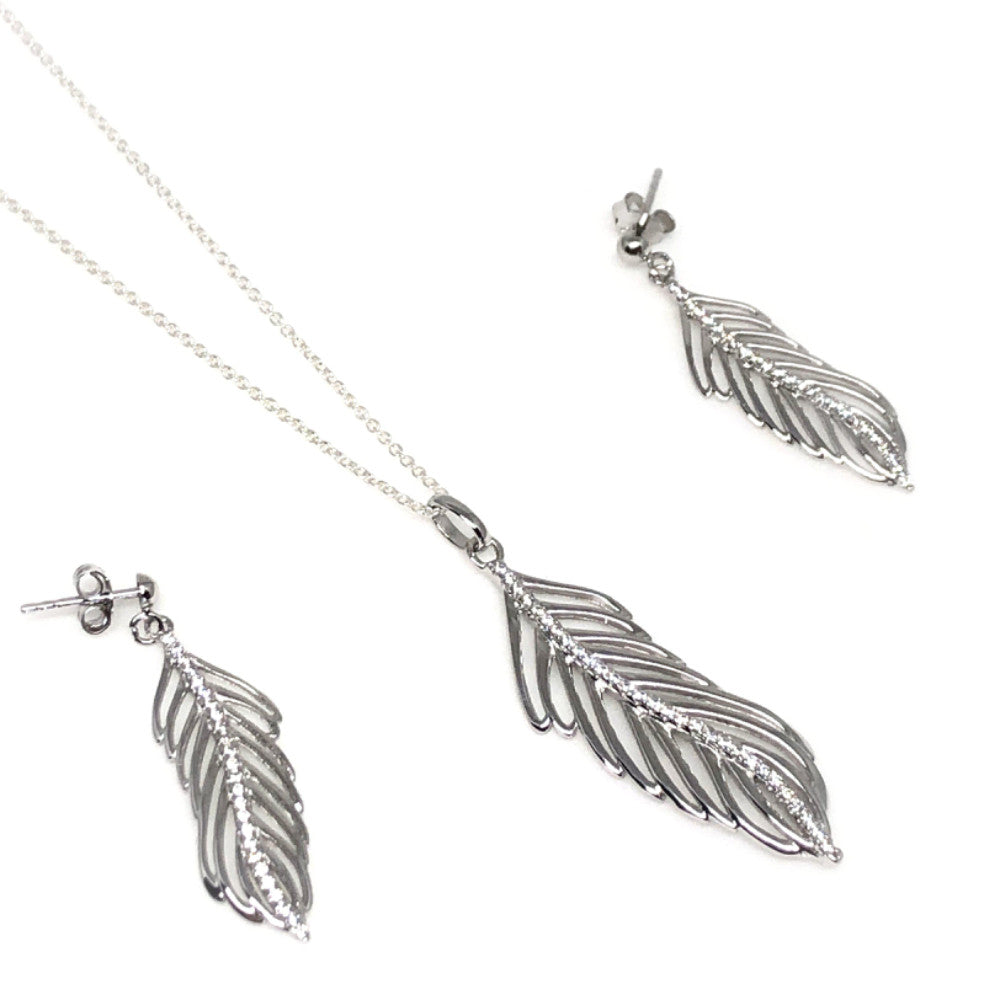 Thailand   | Leaf  Necklace and Earring Set | NIKouture