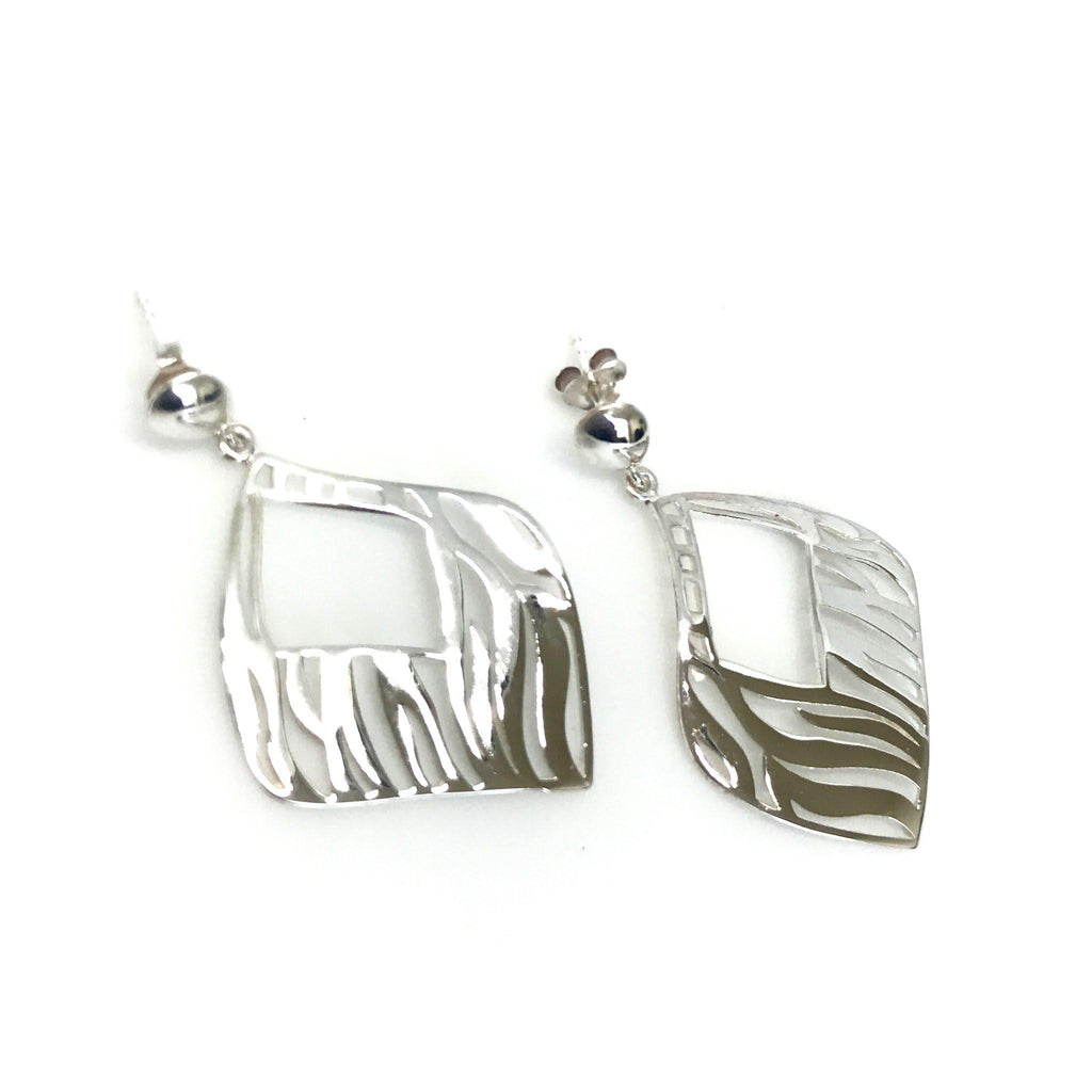 Thailand | Silver Abstraction Earrings
