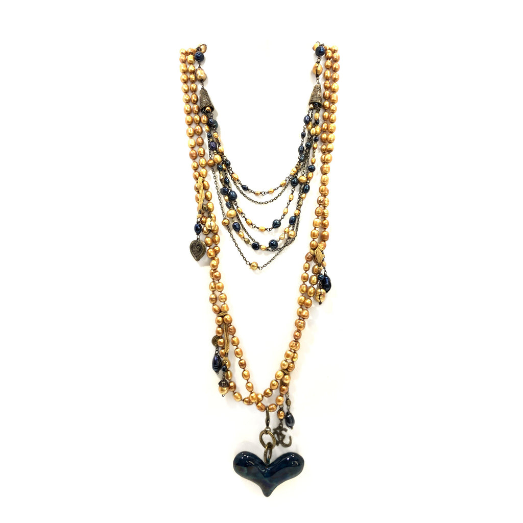 Mexico | Arriba Blue Heart Necklace
