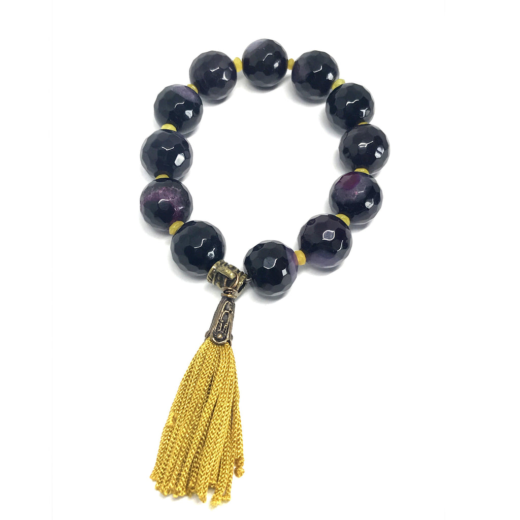 Mexico | Amethyst Prayer Tassel Bracelet