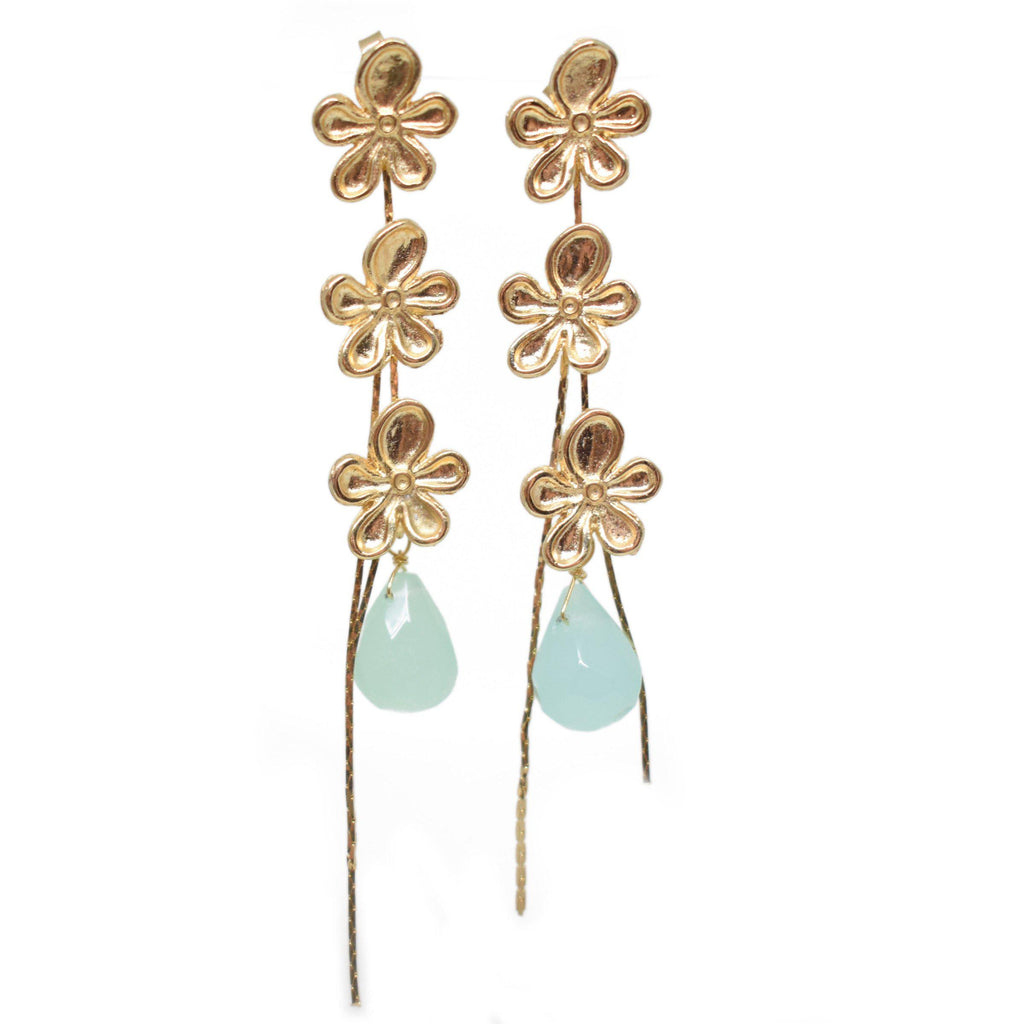 Brazil | Tri-Bloom Flowers Earrings
