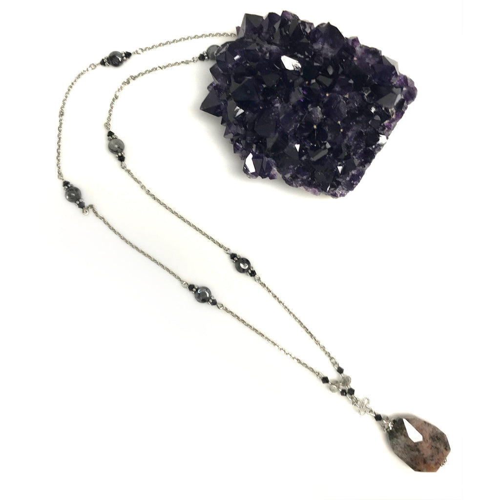 USA | Silver Agate Necklace