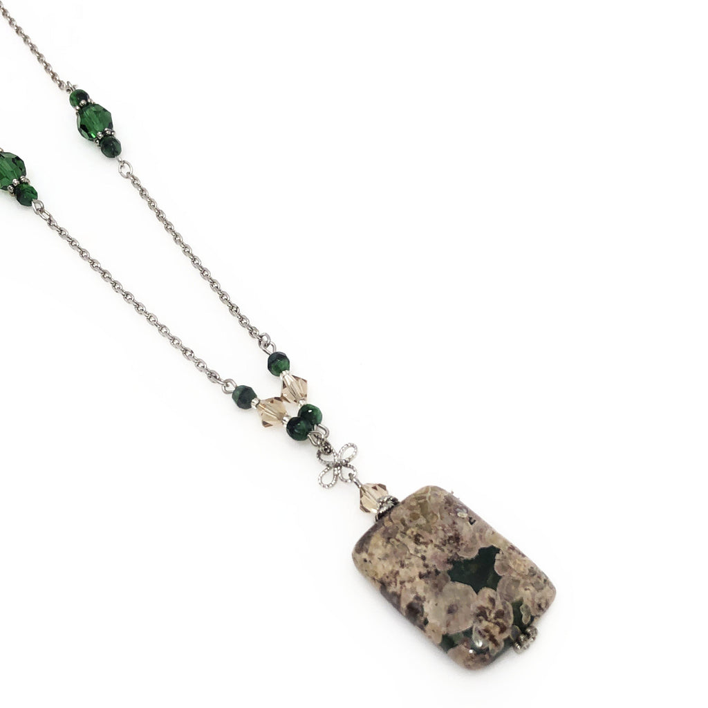 USA | Ocean and Crystal Jasper Necklace