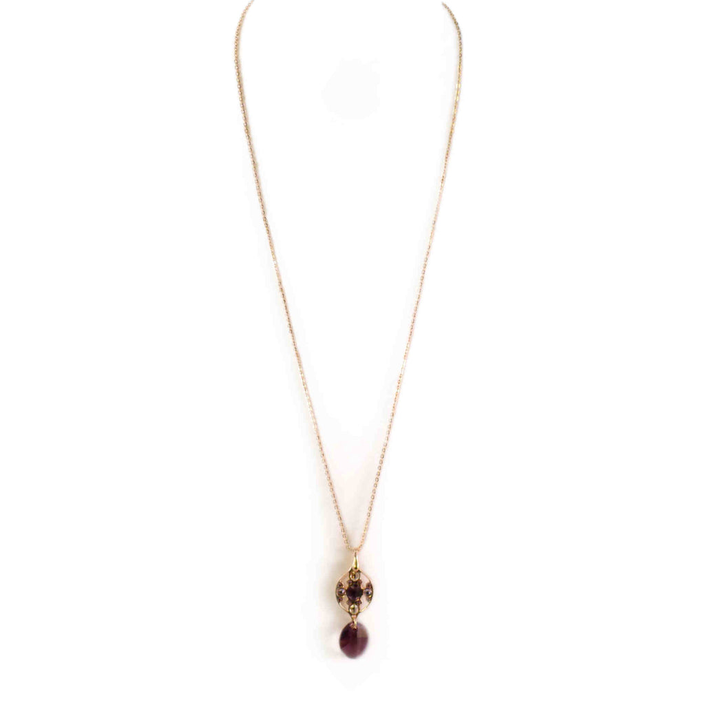 Italy | Renni Purple Crown Jewel  Necklace