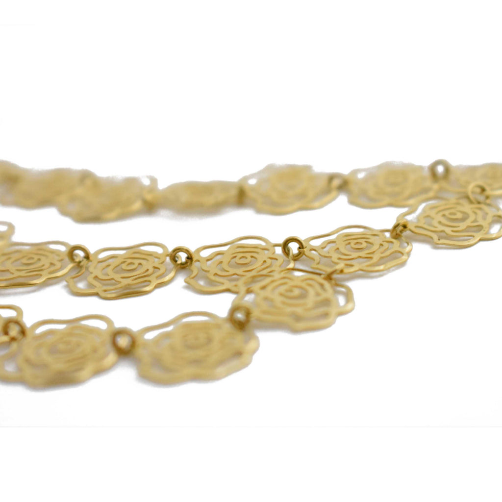 Brazil | Gold Rosè Necklace-necklace-N.I.Kouture