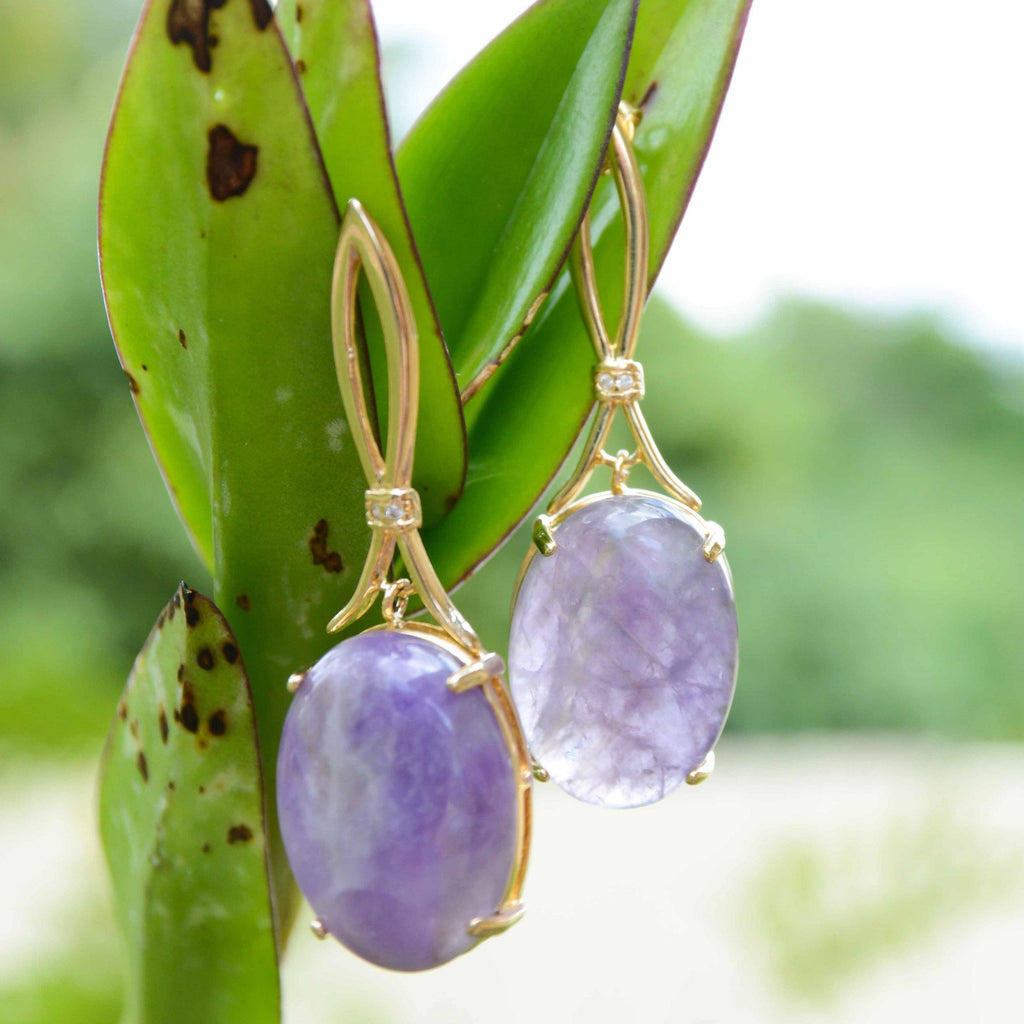 Brazil | San Paulo Purple Earrings-earrings-N.I.Kouture