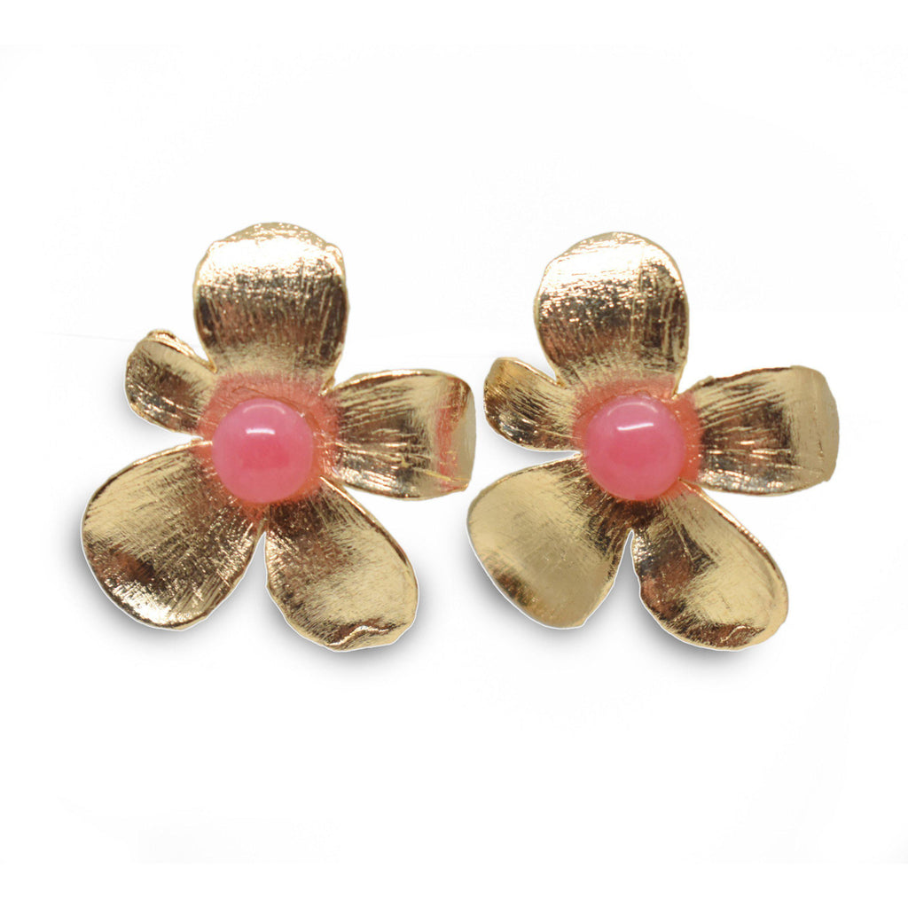 Brazil | Spring Bloom Earrings-earrings-Rose quartz-N.I.Kouture