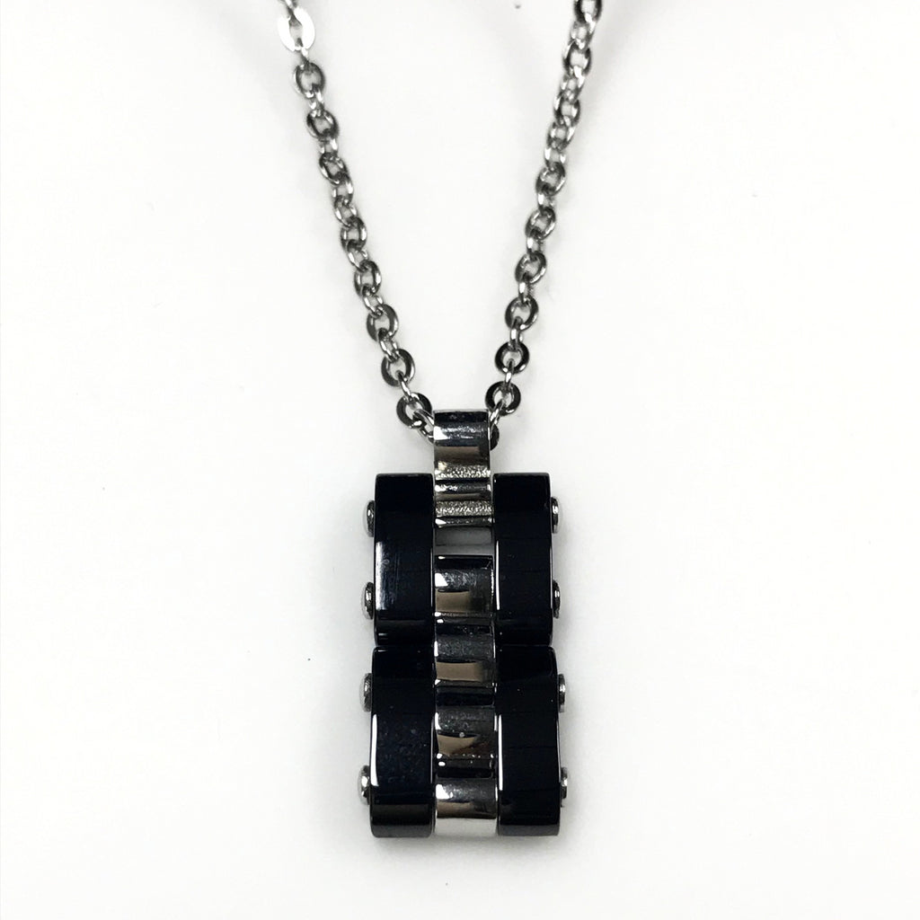 Italy | Virile Steel Men's Necklace-necklace-N.I.Kouture